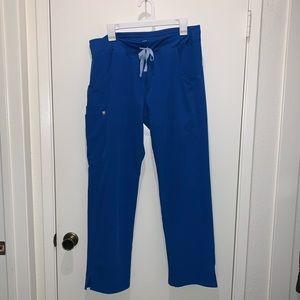 Royal Blue Kade Cargo Figs Scrub Pants